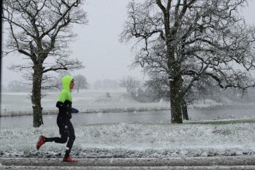 Frosty Friday jog? No... rather let's stay in bed!!