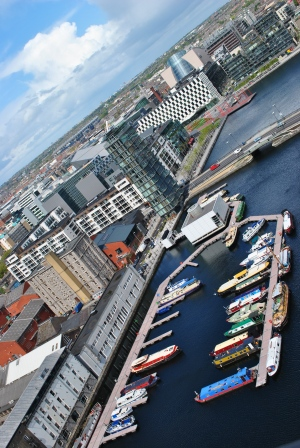 Dublin's Grand Canal Dock and beyond... taken on the 14th of May 2012... feels like a lifetime away!!