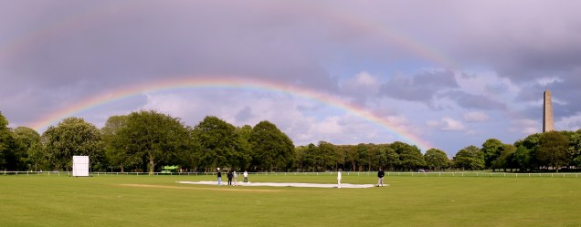 PhoenixPark rainbow... and the Wellington Memorial! Dublin, Ireland... May madness!