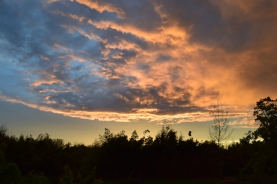 Stormy sunset, Co Kildare, Ireland 11 May 2015