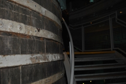 Skirting an old vat on the way up...