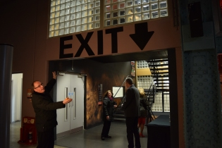 Yes... unfortunately we had to find the exit... not easy without a bit of assistance!!
