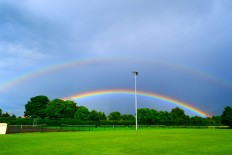Rainbow in Ps... poles removed...