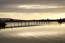 Wooden Bridge... the link between land and water. Bull Island, Dublin, Ireland