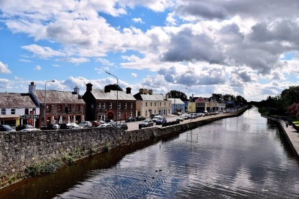 The buildings along the Royal Canal Harbour, Kilcock, Co Kildare, Ireland
