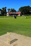 Idyllic... a real summer's day in Ireland... at the Oak Hill Cricket Ground in Co Wicklow...