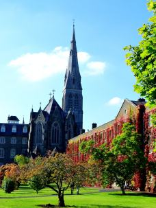 St Patrick's Cathedral, autumn takes it's hold. Maynooth, Co Kildare, Ireland