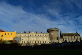 Views of Dublin Castle... the backdrop works, don't you think?