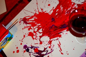 An oopsy messy paint concoction. Fun... all my fun!!