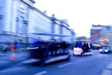 Dubing gathering... along College Green outside Trinity
