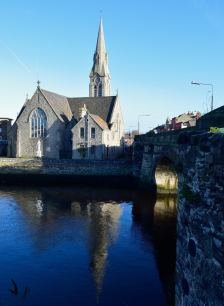 St Patrick Church, along Dublin's Dodder River... within a few hundred meters of the port... history!