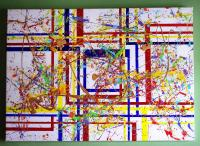 The artist's eye... my take on a cross between Pollock and Mondrian...