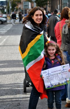 Letters of the alphabet - only a few can tell such a story! South Africans at the 2013 Dublin Marathon, Ireland... memories!