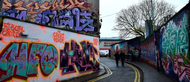 The alphabet on the walls... a colourful Dublin lane!