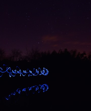 Fun at the pond... mobile phone light patterns add the action!