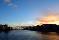 Breaking the routine of the drudgery of the daily commute to work to get a photo of the colour on the river!! Dublin's Liffey on a chilly winter's day!