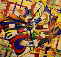 As vibrant as I can get... fun with paint!!