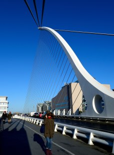 Dublin's Samuel Beckett Bridge... sexy harp like lines... life imitating art on a grand scale!