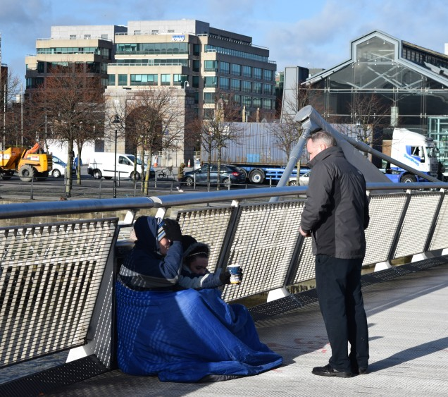 Homeless folk in the heart of Dublin... they need our help