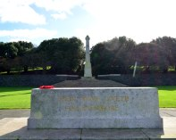 Poppy wreath at the Irish National War Memorial in Dublin... the red sure catches the eye!