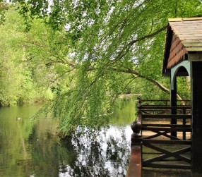 Lazy days... one of the pergolas around the Marlay Park lake