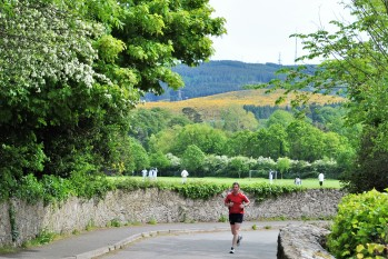 The Dublin Mountains in the background... a jog through Marlay Park