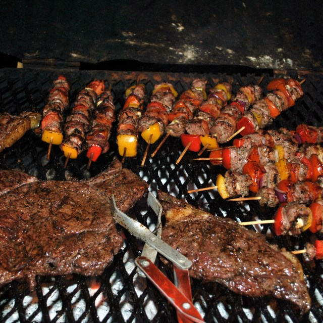 Sosaties and steak... now, there's a braai for you!