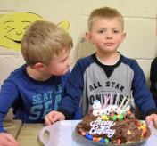 I gonna help you blow your candles!! Happy birthday brother! GSK (L) and GSA having fun!