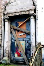Better days?? One of the famed Dublin doors... not in such nick any longer!