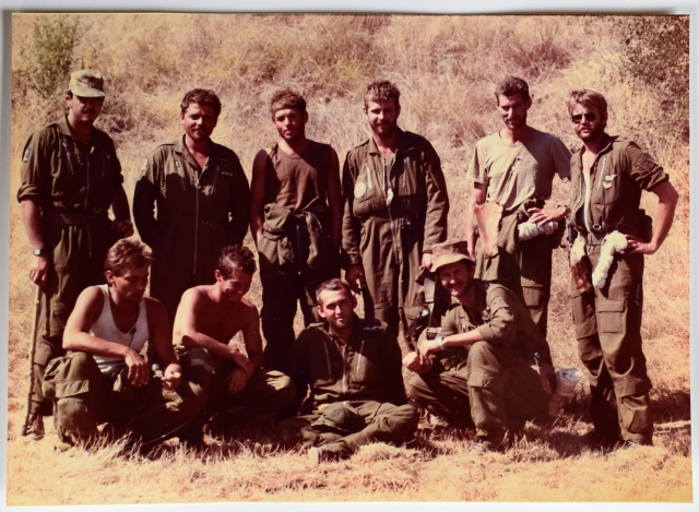Early May 1985... the group at the completion of Land Survival Course... that rough look was well earned!