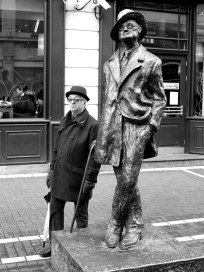 Unknown fan posing with James Joyce, well... his statue, somewhere in Dublin!