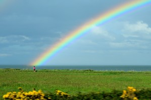 At the end of the rainbow... no, it's not a leprechaun but it is Irish! I think...
