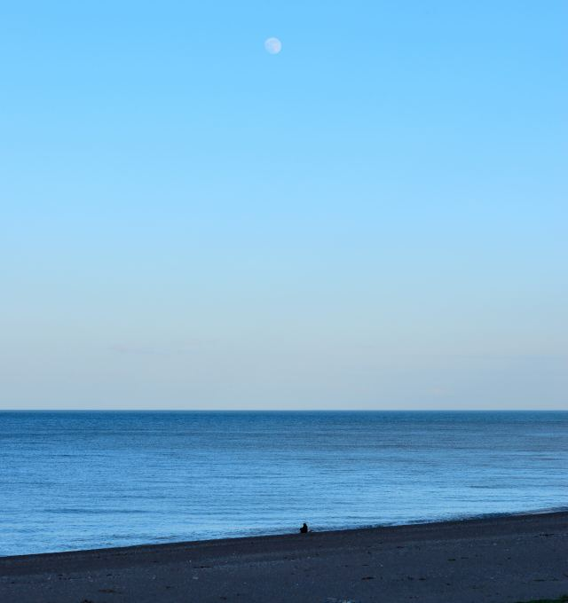 Pensive moon... beach reflections at Greystones, Co Wicklow