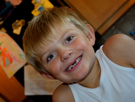 The WWW showing off his best gummy bear sparkling smile... yes, the tooth fairy visits him often these days!