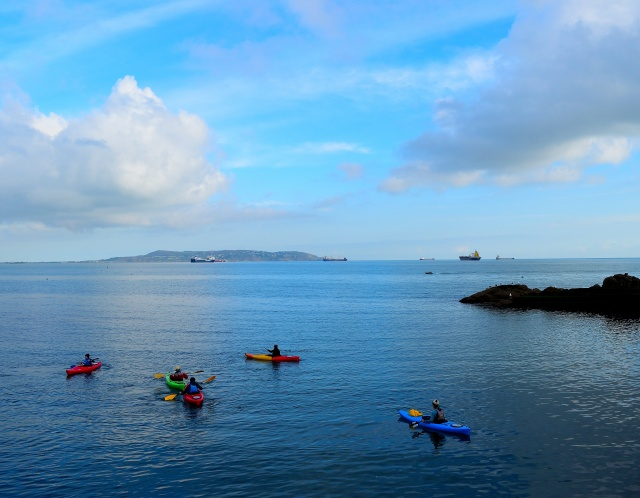 A view from Dalkey... looking across Dublin Bay towards Howth