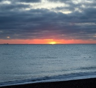 Then, at 08h07 the sun arrived on the scene... splendid Kilcoole Beach sunrise
