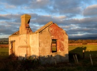 Newcastle, Co Wicklow... the bare bones of a once fine cottage!