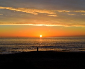 Watching the winter sun rise over the Irish Sea... that's the way to relax!