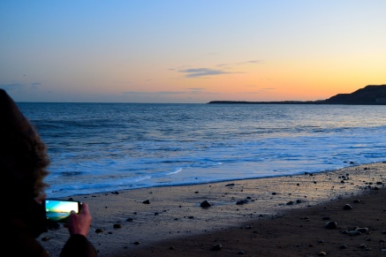 Romantic beach ambience... with the GLW at Arklow's South Beach...