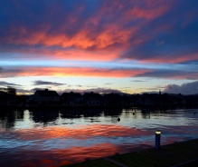 Wobbly tremble... Arklow's Avoca River at sunset!