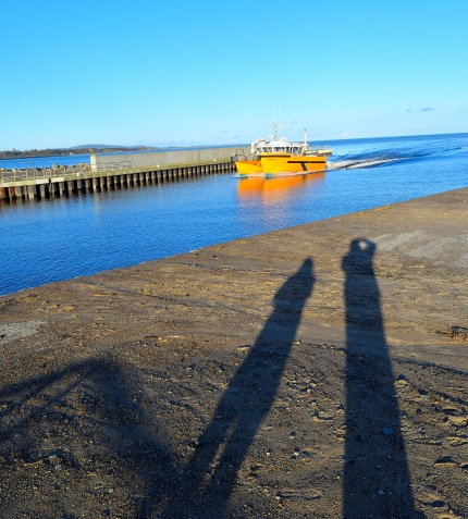 The low winter sun casts shadows on our lives... or does our forms cast the shadows?? Who knows?????