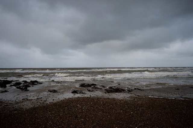 Winter wet and wild! I promise, I was the only fool out on the beach! Clogga Beach, Arklow, Co Wicklow