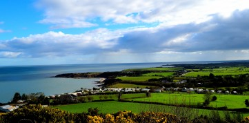 Beauty from atop the hill... Co Wicklow and Co Wexford in the soft Irish sunshine!