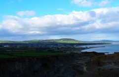 The quarry scar... not the best view of Arklow town...