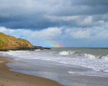 Kilpatrick Beach, Co Wexford... looking out toward the Arklow Wind Farm. A special moment!