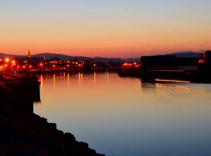 Light... plays part in the creation of magic! Arklow town at sunset... the wide expanse of the Avoca