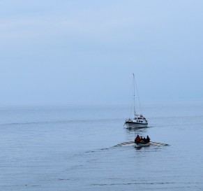 This is the sea! Arklow Harbour mouth...
