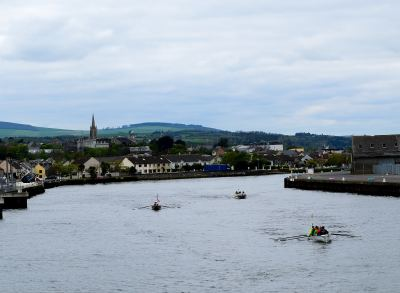 Some of The Celtic Challenge boats leaving the Arklow Harbour area