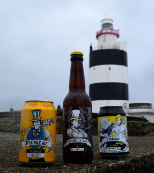 Aha! Beer at Hook Lighthouse! In the rain? Hook Peninsula, Co Wexford