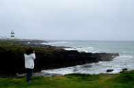 The storm sea... cliffs, Hook Lighthouse in the distance... and the GLW exposing herself. Well, sort of!